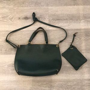FREE PEOPLE vegan leather hand bag and wallet